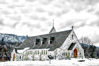 St. Dominic's Church in Winter. Proctor, Vermont