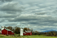 Red Barns in Brandon Vermont