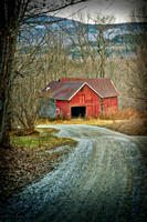 """Red Barn On A Dirt Road"""